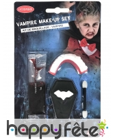 Set de maquillage vampire avec dentier, enfant