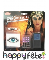 Set de maquillage voyante cyclope pour adulte
