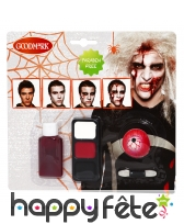 Set de maquillage zombie sans paraben