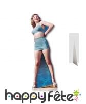 Silhouette de Marilyn Monroe en bikini