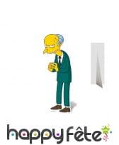 Silhouette de Mr Burns en carton
