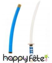 Sabre de Ninja bleu pour enfant, 60cm