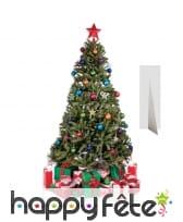 Sapin de Noël en carton plat décoré