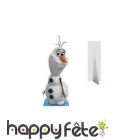 Silhouette de Olaf en carton taille réelle