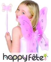 Set de papillon rose pour enfant