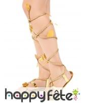 Sandales dorée Romaines avec lanières