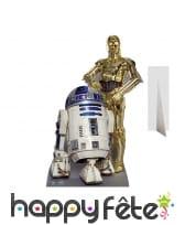 Silhouette de R2-D2 et C3-po en carton plat