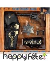 Set de shérif, holster revolver étoile