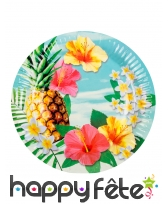 Set de vaisselle jetable tropicale, image 1