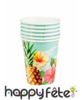 Set de vaisselle jetable tropicale, image 4