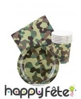 Set de vaisselle militaire