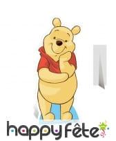 Silhouette de Winnie l'ourson en carton