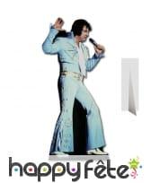 Silhouette Elvis costume bleu pattes d'eph