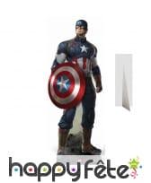 Silhouette en carton du Captaine América
