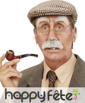 Sourcils et moustache de vieillard