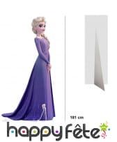 Silhouette Elsa taille réelle, La reine des neiges