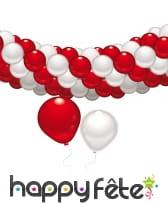Set guirlande de ballons rouges et blancs