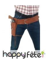 Simple holster marron en simili cuir avec ceinture