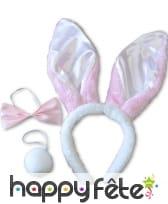 Set lapin blanc et rose, image 1
