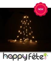 Sapin lumineux décoratif de 30cm