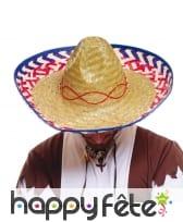 Sombréro mexicain en paille naturelle