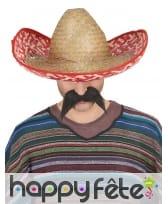 Sombrero Mexicain en paille tressée, image 1