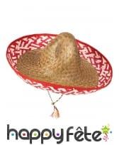 Sombrero Mexicain en paille tressée, image 2