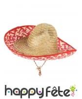 Sombrero Mexicain en paille tressée