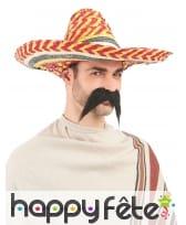 Sombrero multicolore en paille, image 1