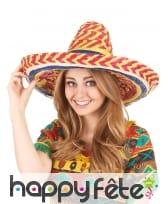 Sombrero multicolore en paille, image 2