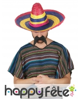 Sombréro multicolore ligné pour adulte, image 1