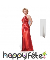 Silhouette Marilyn Monroe en robe de soirée rouge