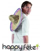 Sombrero mexicain pour adulte, en paille, image 2