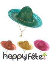 Sombrero mexicain pour adulte