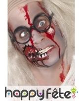 Set maquillage zombie sang