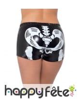 Shorty noir squelette effet mouillé, sexy, image 2