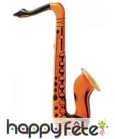 Saxophone orange à gonfler, image 2