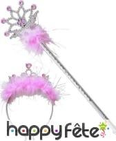 Set princesse composé d'un tiare et d'une baguette, image 2
