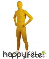 Seconde peau jaune pour adulte