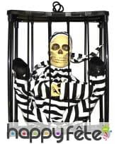 Squelette prisonier qui réagit au bruit