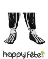 Surchaussure pieds squelettes pour adulte