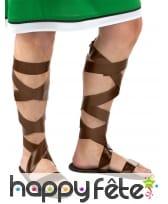 Sandales romaines à lanières marrons