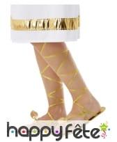 Sandales romaines dorées pour femme, image 1
