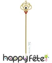 Sceptre royal doré et majestueux