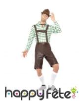 Salopette short de Bavarois avec haut vert, image 1