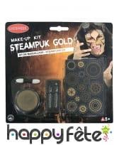 Set steampunk doré de maquillage