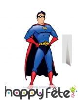 Silhouette Super héro dessin animé taille réelle
