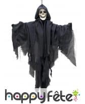 Spectre squelette noire à suspendre de 90cm