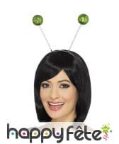 Serre tête antennes boules vertes à paillettes, image 1