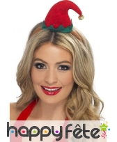 Serre-tête avec mini chapeau elfe